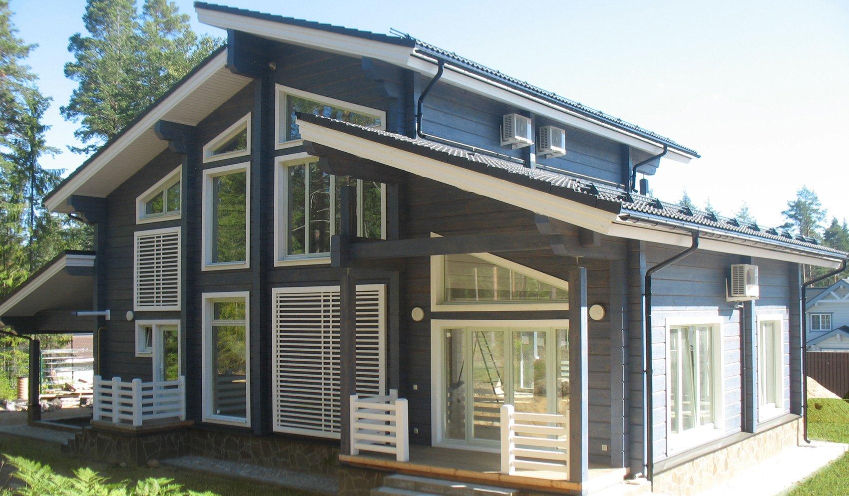 дом с разными уровнями фото слитном черном купальнике